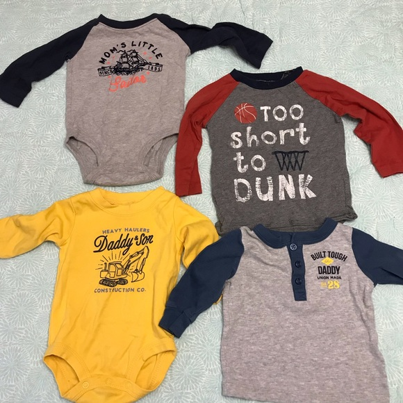 Other - Lot of 4 long sleeve shirts sz 6m